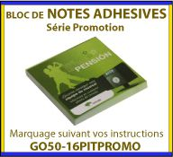 Notes adhesives ou post-it pour la communication GO50-16PITPROMO
