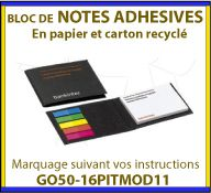 Notes adhesives ou post-it dans un étui en carton recycle GO50-16PITMOD11