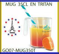 Mug en plastique tritan recyclable personnalise de 35cl GO07-MUG350T