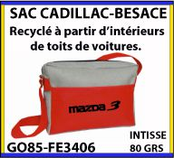 Besace Cadillac en matiere recyclee issue de l industrie automobile GO85 FE3406