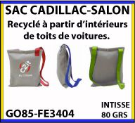 Sacs salon Cadillac en matiere recyclee issue de l industrie automobile GO85 FE3404