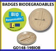 Badges publicitaires biodegradables - GO148-19BIOB