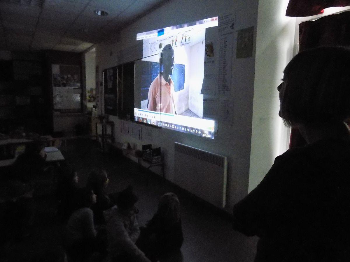 projection de la vidéo