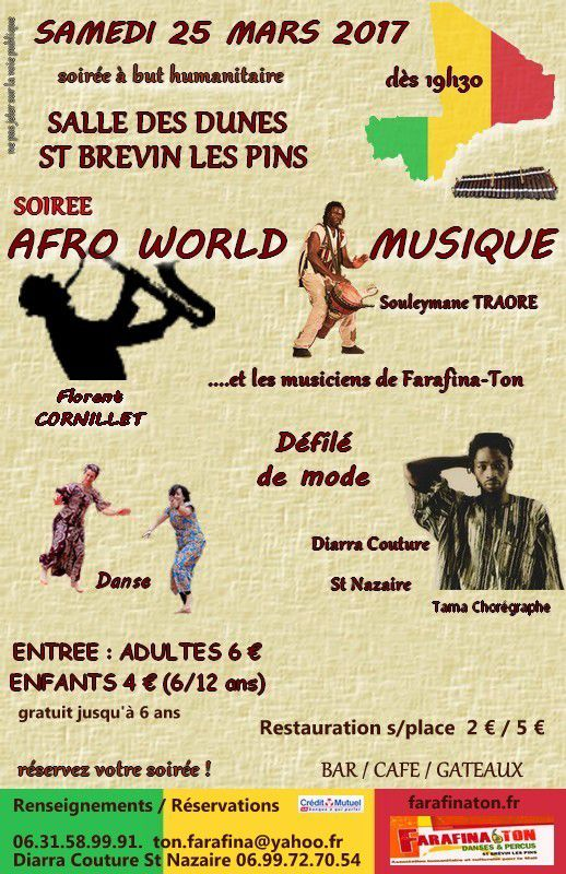SOIREE AFRO WORLD MUSIQUE