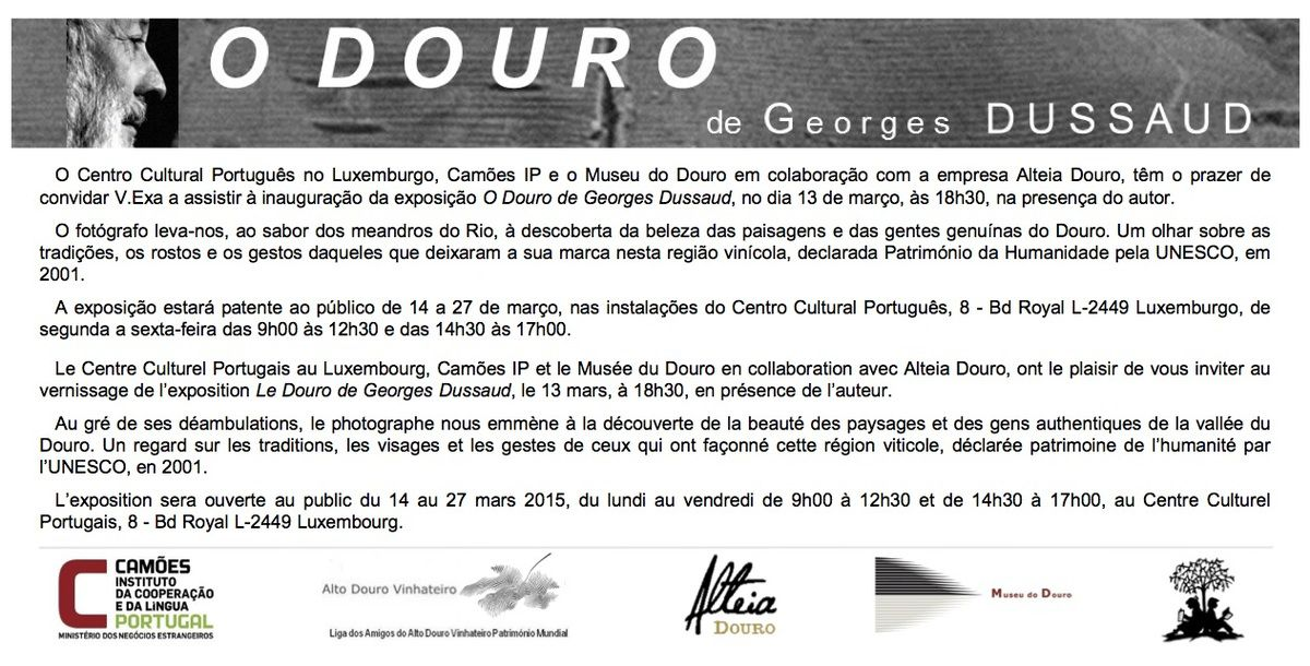 EXPOSITION &quot&#x3B;O DOURO à L'INSTITUT CAMÔES, LUXEMBOURG