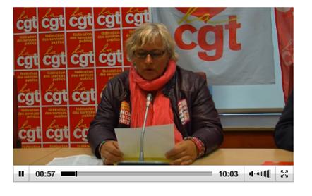 Conférence de presse de la CGT fonctionnaires sur le PPCR