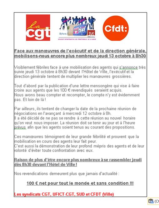 Communiqué commun CGT, UFICT CGT, SUD et CFDT