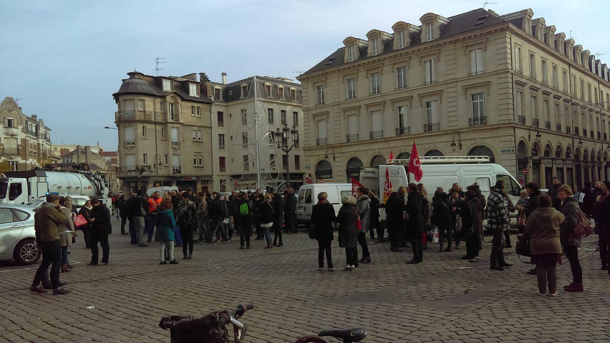 Mouvement social ce jour à Reims métropole, la ville de Reims et au CCAS de Reims