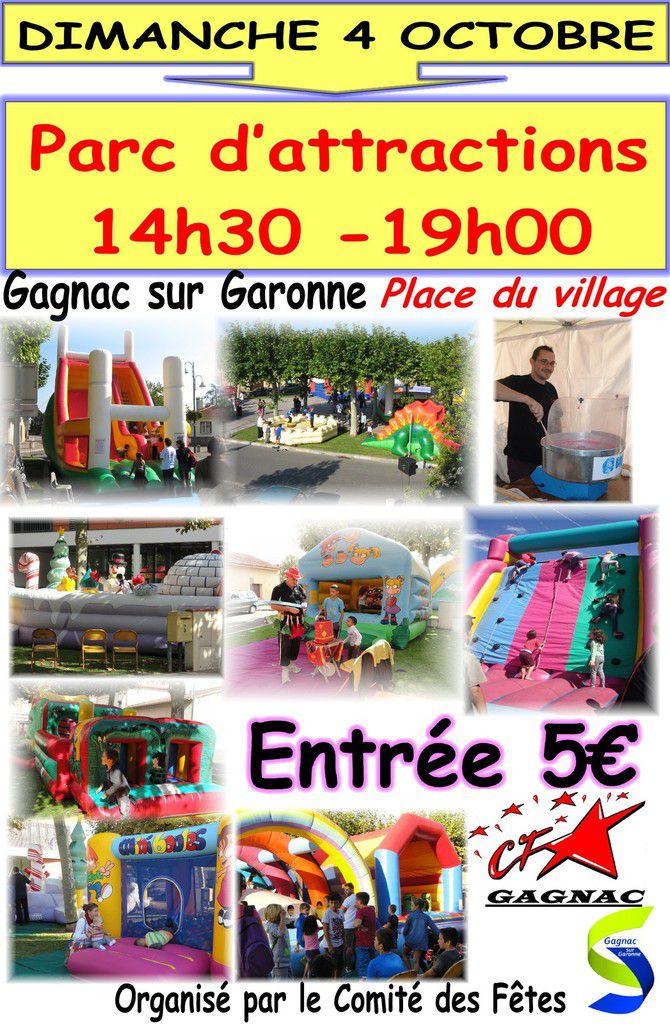 Parc d'attractions place du village le 4 octobre !!!