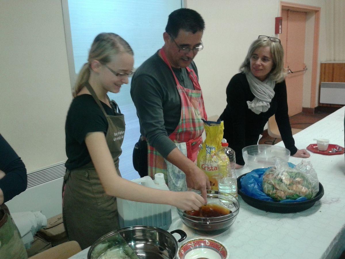 R sum des trois derniers cours de cuisine mars avril for Association cours de cuisine