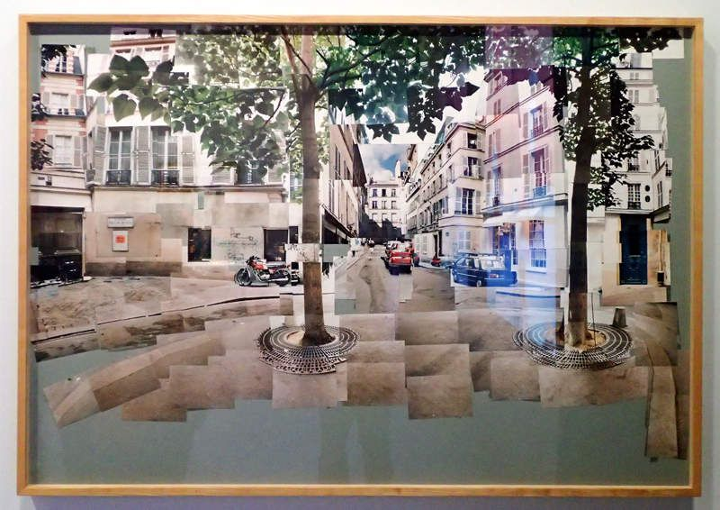 David Hockney - Paris, place Furstenberg , collage 1985   /  © Ph Pons