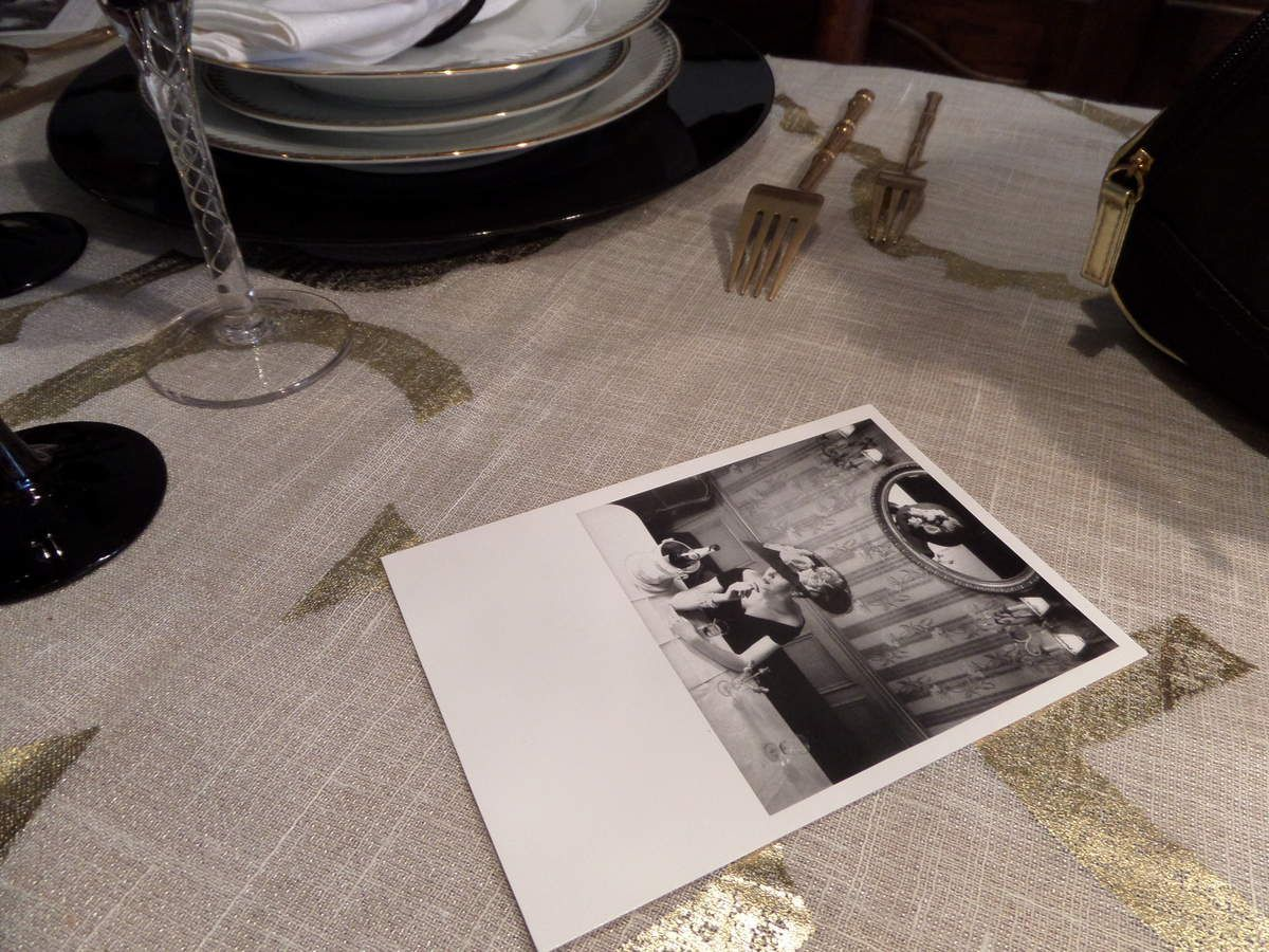 ma table noire et blanche Dior