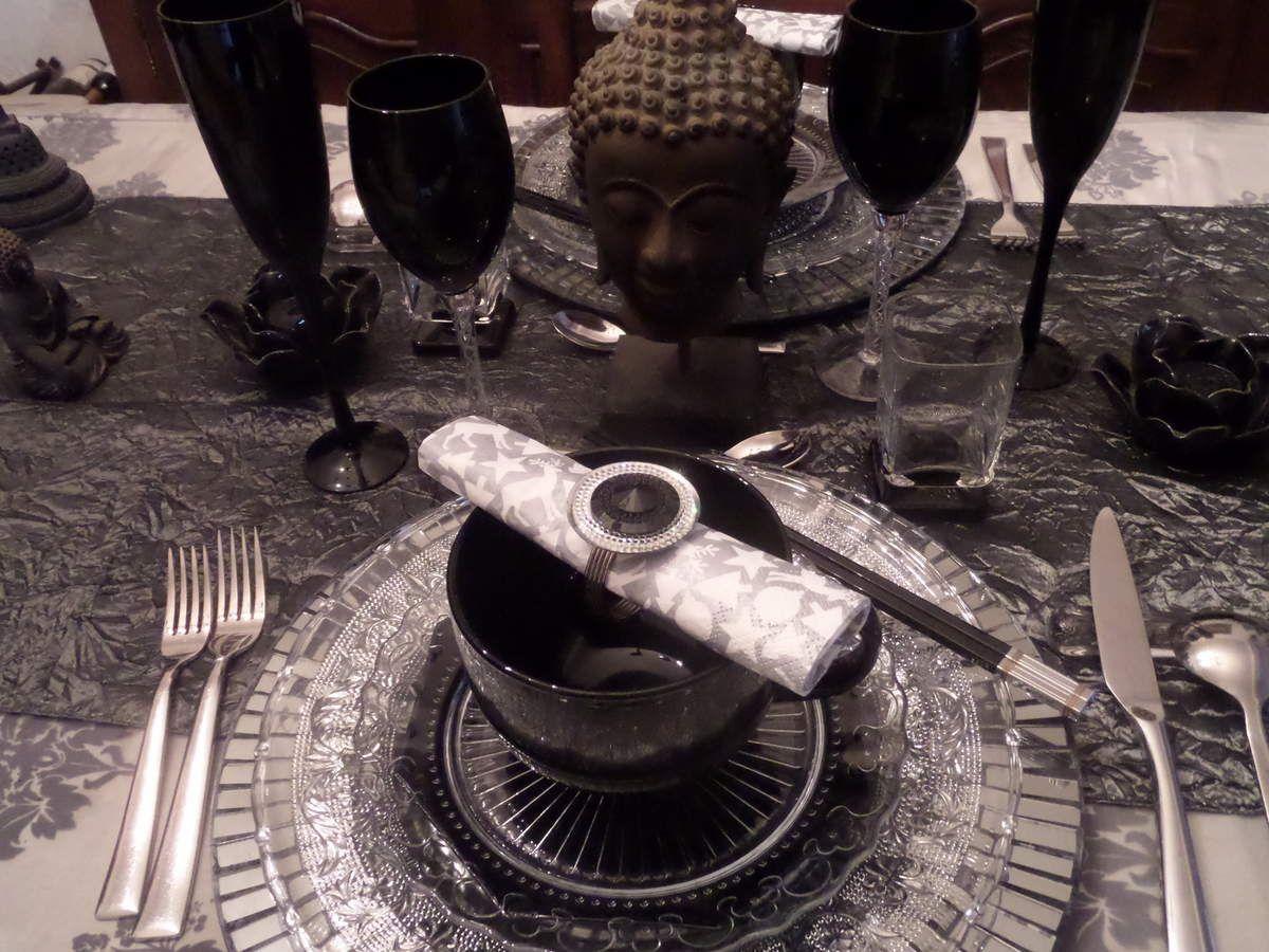 Ma table du reveillon et mes meilleurs voeux
