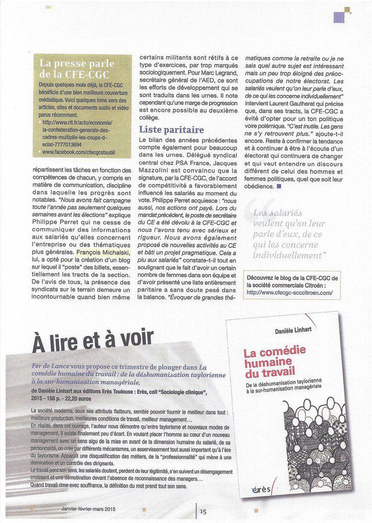 Le Magazine &quot&#x3B; Fer de Lance n° 580 &quot&#x3B;  parle de votre DSC, Mr François MICHALSKI !