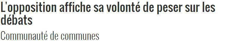 Michel Teychenné répond à la création d'un «groupe d'opposition PS » à la Communauté des Communes des Portes d'Ariège