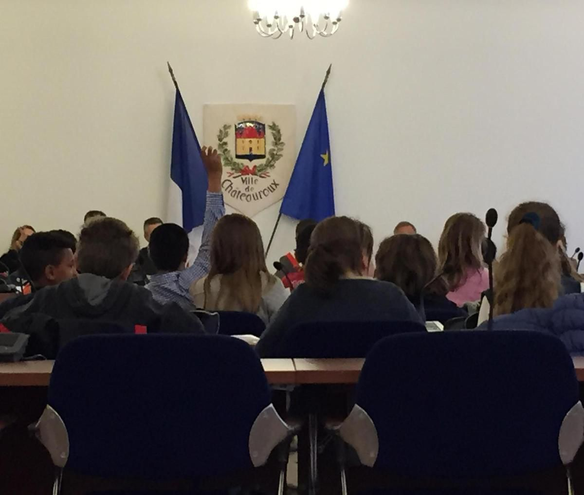 Séance d'installation du Conseil Municipal d'Enfants de Châteauroux