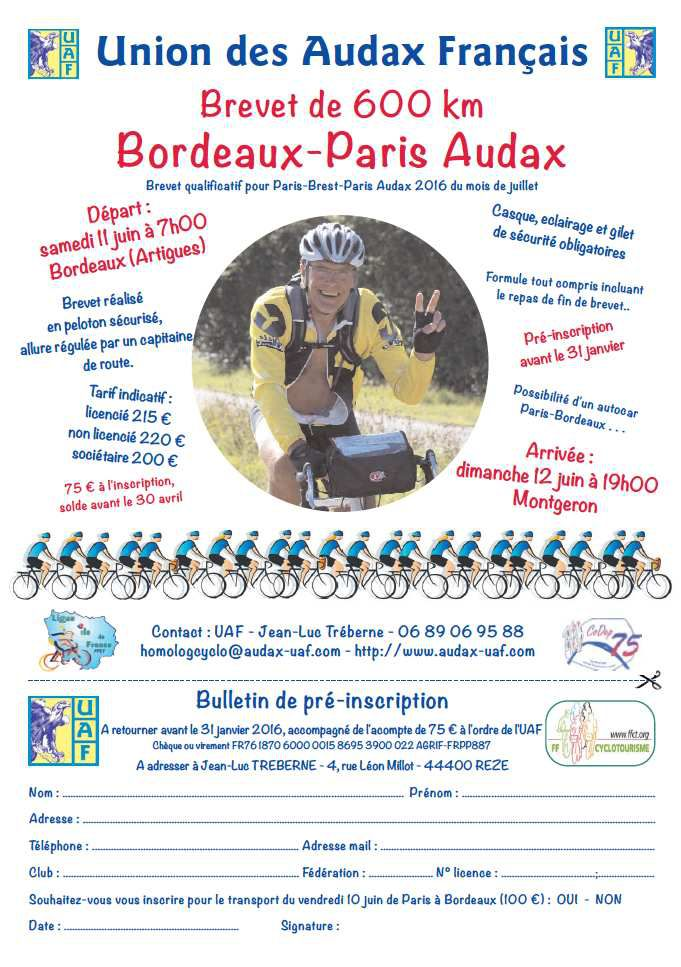 Bordeaux - Paris Audax