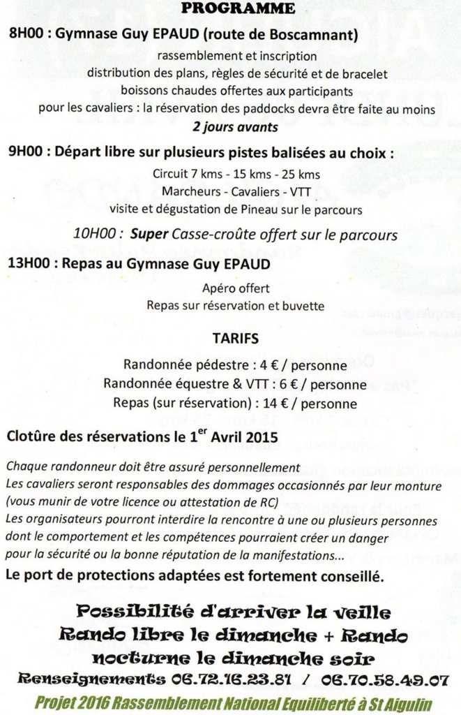 Rando à Saint-Aigulin (17) lundi 6 avril 2015