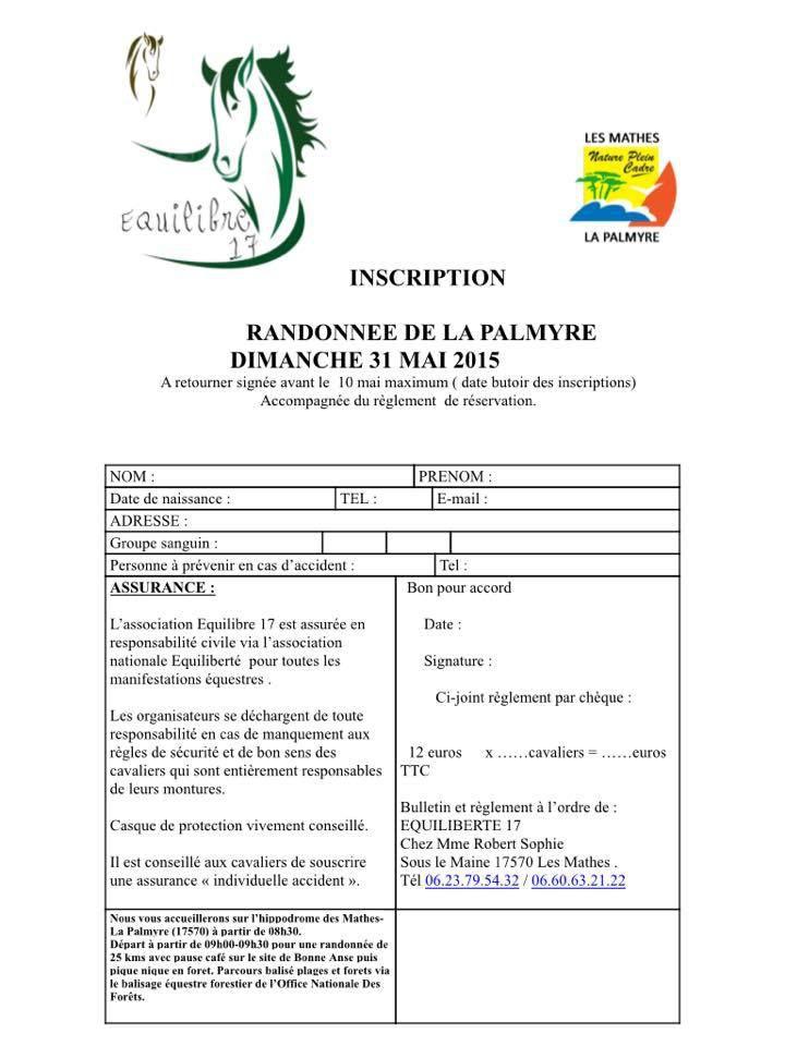 Rando à La Palmyre (17) dimanche 31 mai 2015