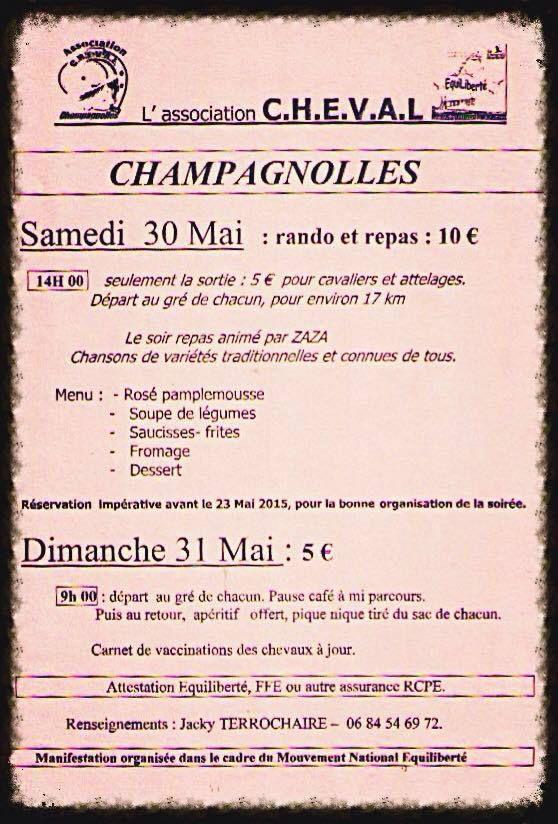 Randos à Champagnolles (17) les 30 et 31 mai 2015