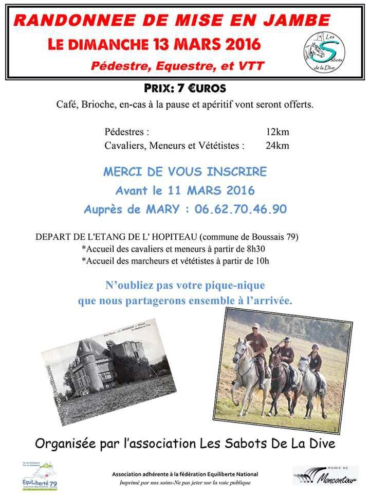 Rando à Boussais (79) dimanche 13 mars 2016