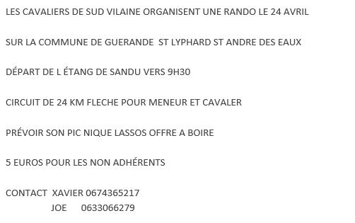 Rando vers Guérande (44) dimanche 24 avril 2016