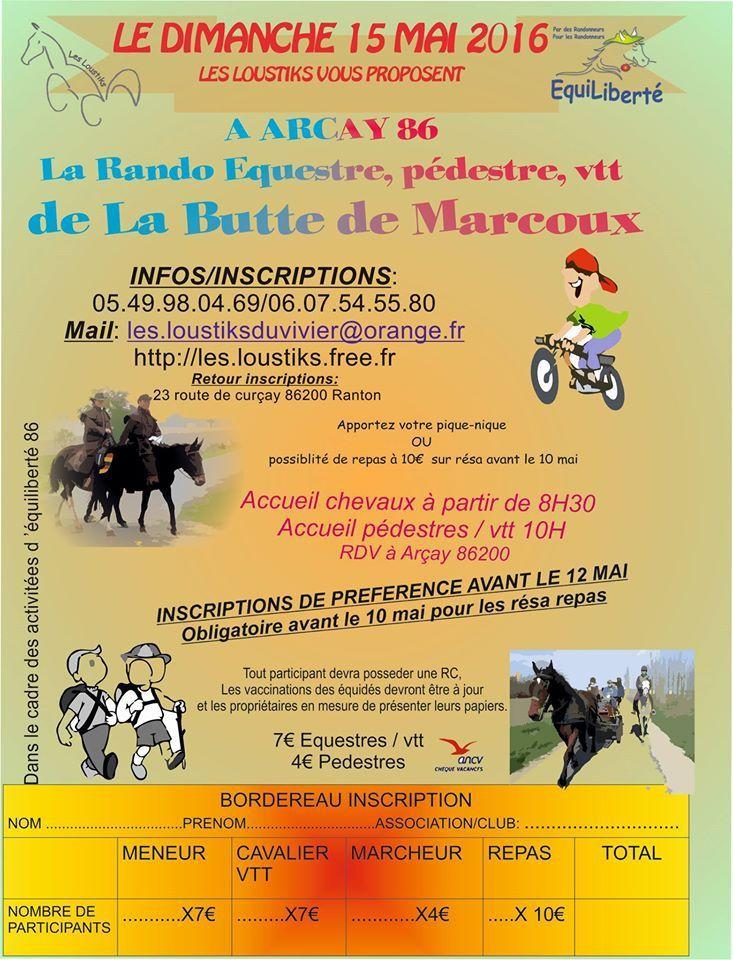 Rando à Arcay (86) dimanche 15 mai 2016
