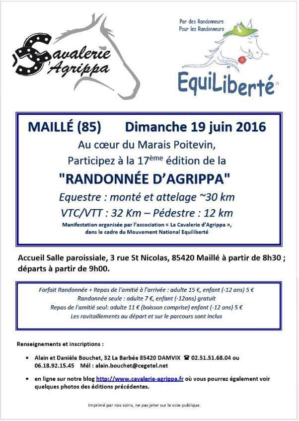 Rando à Maillé (85) dimanche 19 juin 2016