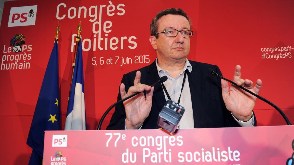 """Christian Paul, député socialiste, premier signataire de la motion B """"à gauche pour gagner !"""""""