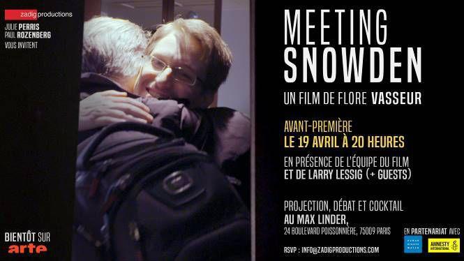 J'ai assisté à l'avant-première du film « Meeting Snowden »