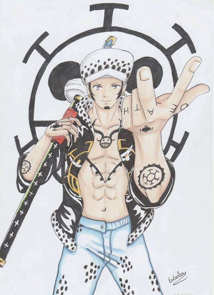 Trafalgar Law de one piece par Estelle.