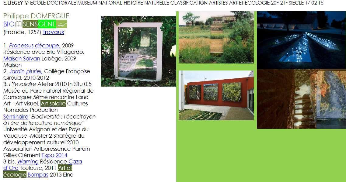 Conférence Philippe Domergue, exposition résidence artistes Colloque eurorégional Art et écologie au 21e siècle, Elne, 28 août 2013.