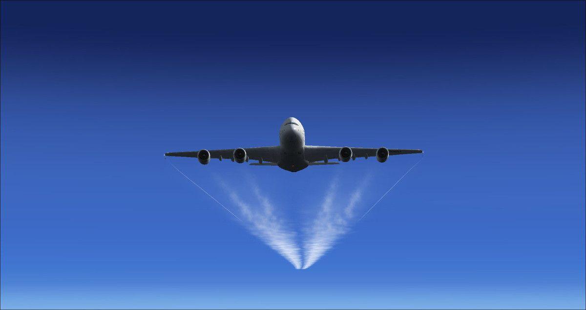 Le géant des airs au niveau 410, mais le vol anniversaire se déroulera au niveau 350...