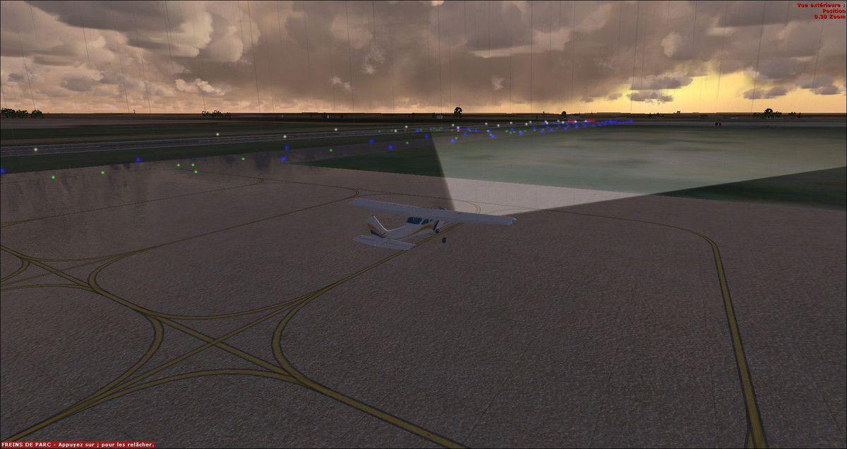 Ca y est, le Cessna est autorisé par le contrôleur Tyto31 à rouler...