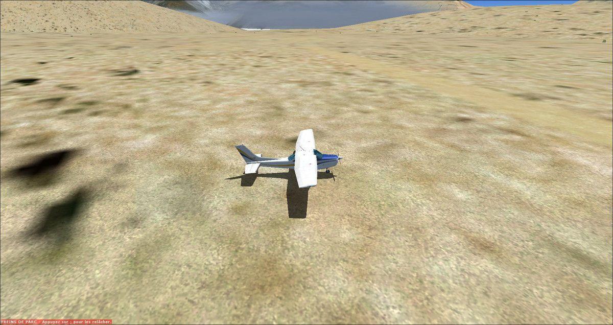 Petit jeu, voyez vous la piste ? Oui elle est bien devant le Cessna F-FRED...