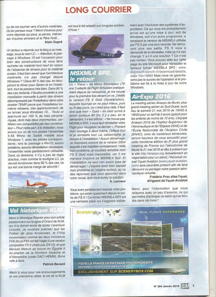 La date d'Airexpo 2016 dans le magazine de Microsim...
