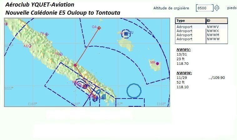 Report du dernier vol en Nouvelle-Calédonie...