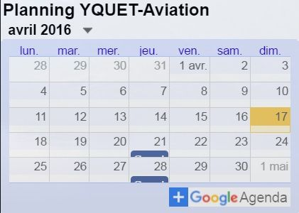Du nouveau sur le blog YQUET-Aviation...
