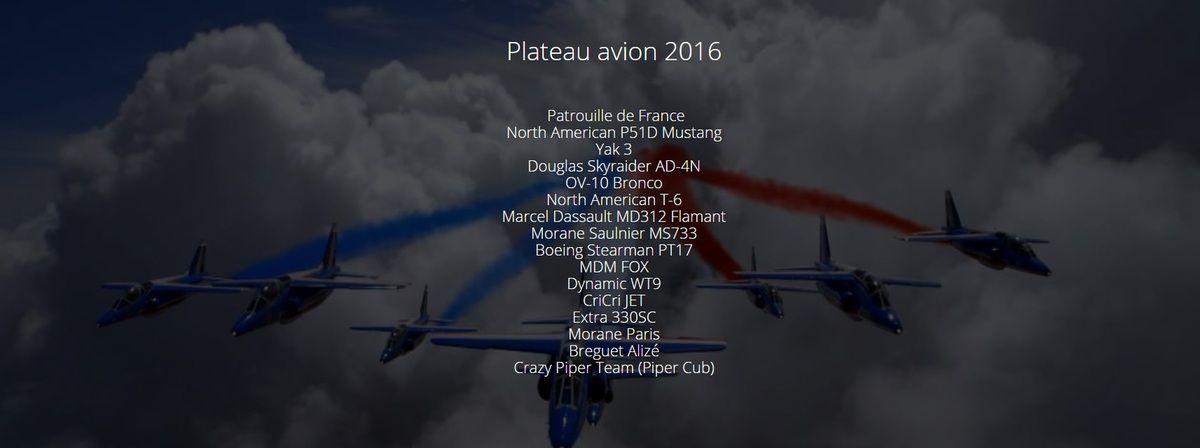 Le plateau aérien 2016...