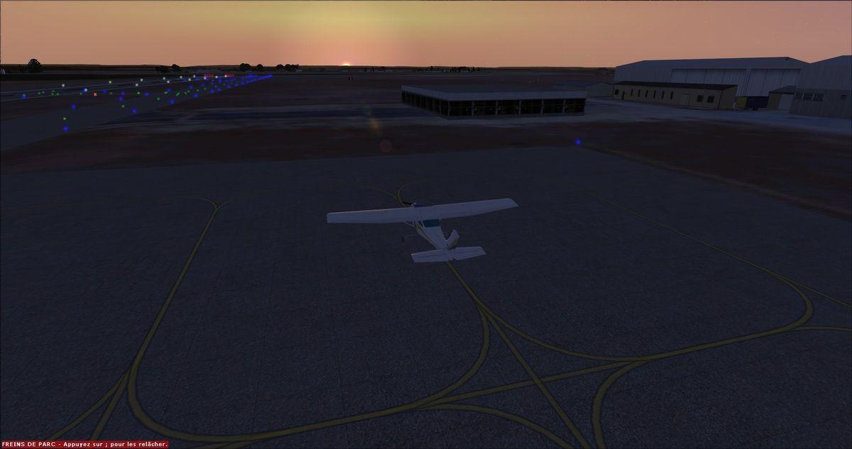 Le Cessna 182RG F-FRED sur le tarmac de Muret-Lherm...