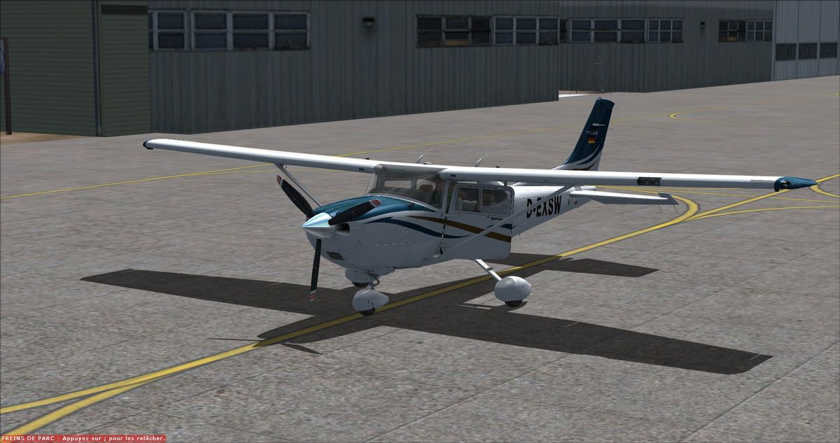Le cessna 182T au parking après 1h20 de vol test...
