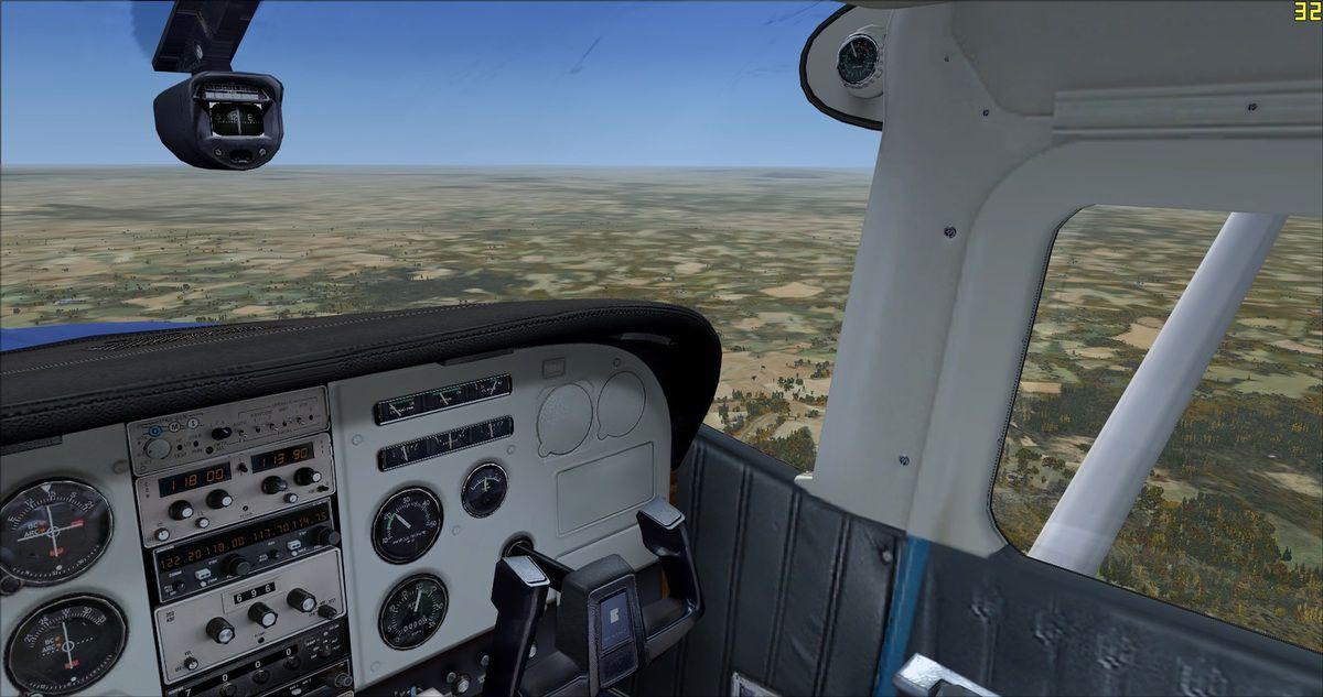Pas grand chose à regarder durant les quasi 2h00 de vol...