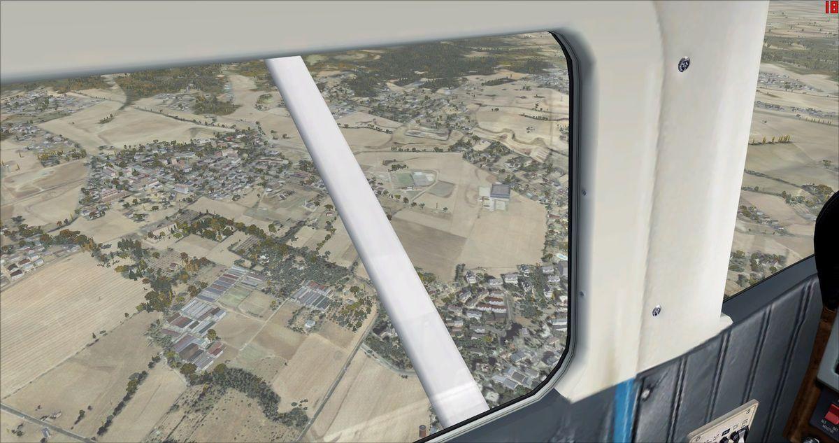 Une rare ville survolée par les pilotes adhérents...