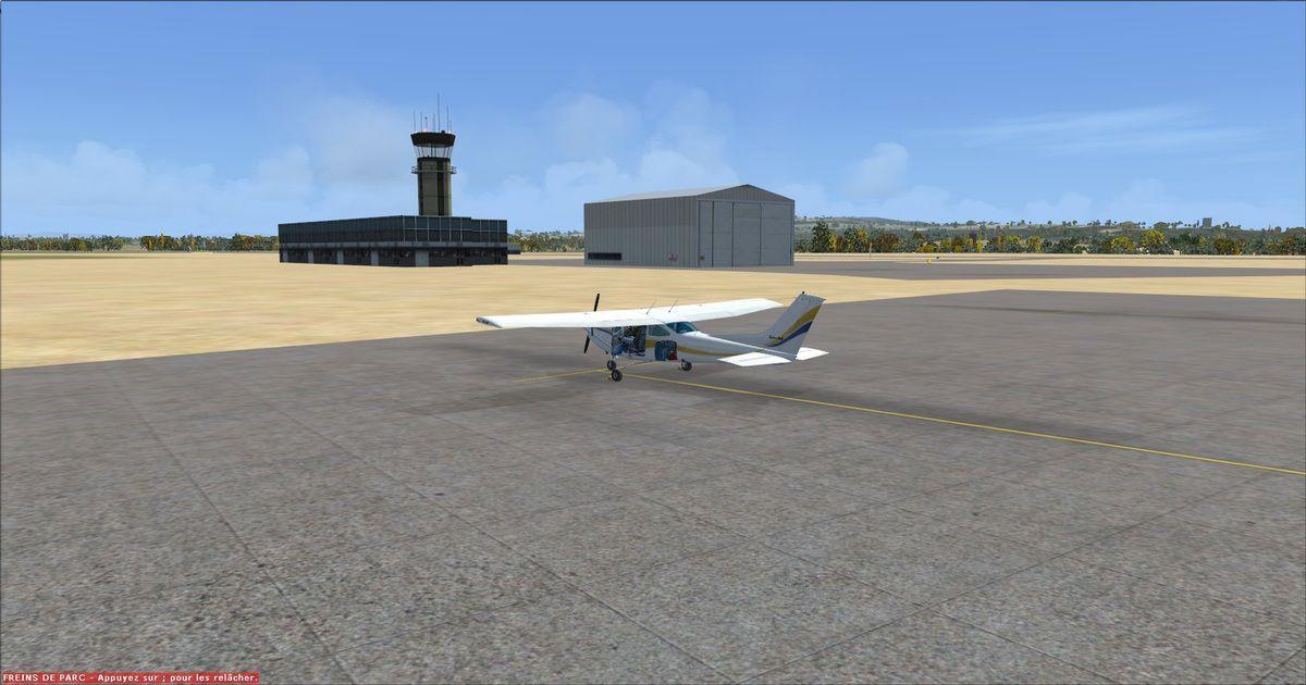 L'aéronef haut-garonnais parqué sur l'emplacement n°1...