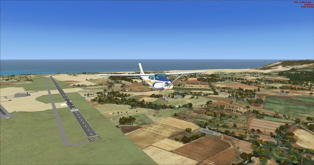 Premier décollage des 4 tours de piste 10 de l'aéroport de Tanger...