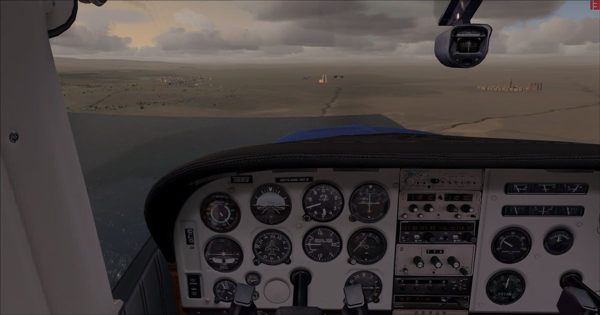 Prise de la finale piste 30 de l'aéroport de Ouarzazate se trouvant à 3780ft d'altitude...
