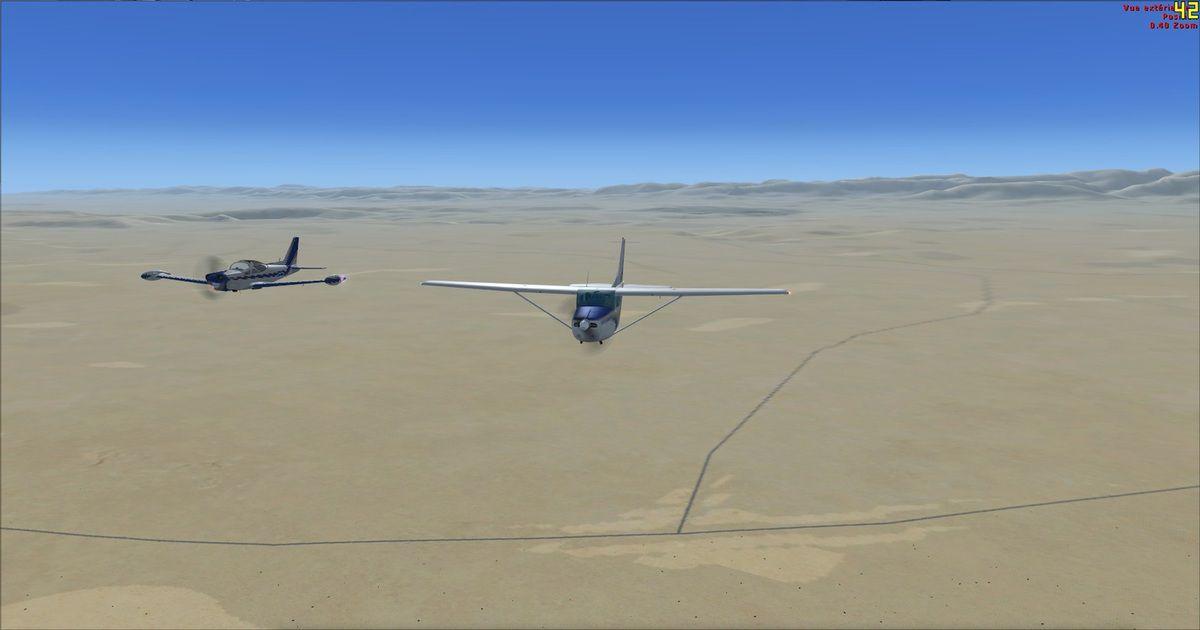 Did-95 a réalisé un vol en formation avec son Président au dessus de la plaine...