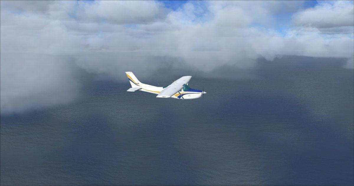 0h40 de vol, derrière les nuages : Malaga....