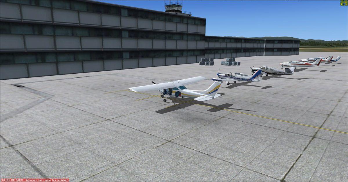 Les appareils sous le regard du contrôleur, après 1h20 de vol...