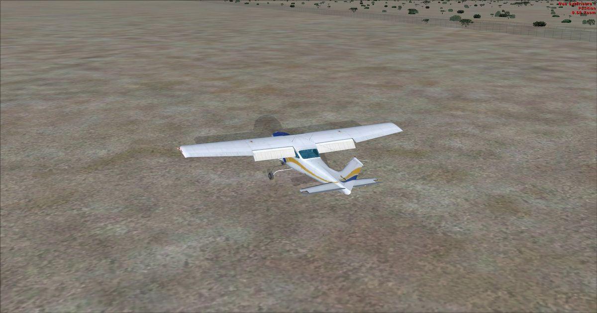 Essais d'atterrissage en hors piste également réussis, mais les responsables de l'aéroport n'y tenaient pas !...